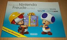 Nintendo Pubblicitari Catalogo Libretto PROSPEKT 2015 2016 Wii U 3ds panoramica PRODOTTO NUOVO