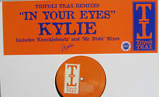 "KYLIE MINOGUE 12"" In Your Eyes UK PROMO ONLY Tripoli Trax REMIXES UNPLAYED Bishi"
