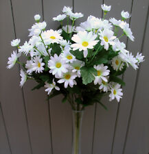 Artificial Daisy Flower Bush - Full of White Silk Daisies