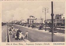 # LIDO DI ROMA- OSTIA: LUNGOMARE C. COLOMBO - 1938