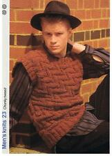 CHUNKY TWEED knitting pattern, slipover - Marshall Cavendish pamphlet MK23
