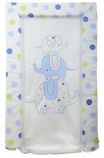 Silver Cloud Love Colour Elephant Spot Changing Mat - Blue