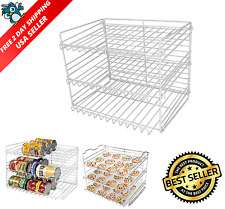 Can Food Storage Organizer Kitchen Cabinet Pantry Canned Goods Shelf Rack Holder