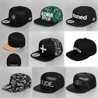 SNAPBACK HATS CAP HIP HOP STREET WEAR WEED COMPTON UNISEX LEATHER LATEST