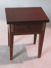 Vintage mahogany side, end, occasional dollhouse table 1:12 scale