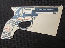 "1950's JIM SHOULDERS Six Shooter 10"" Paper BANG! VG"