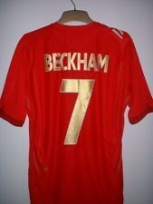 England BECKHAM Football Soccer Shirt Jersey Uniform Official UMBRO 2006-08 Med