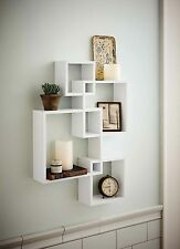 Shelving Solution Intersecting Wall Shelf with 2 Candles - White (Set of 4)
