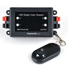 DC12-24V 20A LED Single Color Strip Dimmer Controller with RF Wireless Remote