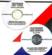 TEKTRONIX Ops & Service Manuals for 7603 Oscilloscope + 54 PLUG-INS