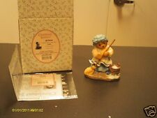 Cherished Teddies ` PAULINE   A woman's work is never done   girl sweeping