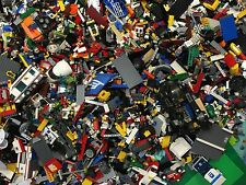 4 lbs Pounds Clean 100% Lego Parts Pieces from HUGE BULK LOT- Bonus  MINIFIGURES