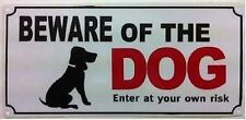 NEW BEWARE OF THE DOG SAFETY WARNING SIGN PLASTIC DOOR GATE WALL HOUSE