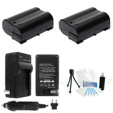 EN-EL15 Battery x2 + Charger for Nikon D7000 D600 D800 D800E  1 V1