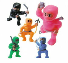100 Ninja Fighters Figures Bulk Cake Toppers Toy Birthday Party Favors Vending