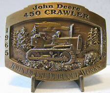 * John Deere Dubuque Works 450 Crawler Tractor Dozer 1997 Belt Buckle Limited Ed