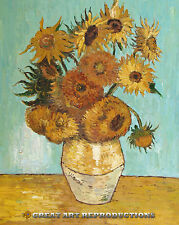 """The Vase with 12 Sunflowers"" van Gogh,Impressionist,Reproduction in Oil 36""x28"""