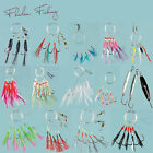 Pack of 20 Assorted Mackeral Mackerel Sea Fishing Feathers Rig Jig Lures Boat