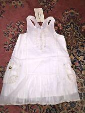 ★ Zara ★ ärmelloses Sommer Kleid Weiß Gr. 104