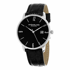 Stuhrling Original Men's 997L.02 Ascot Quartz Black Leather Date Watch