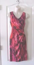 Simply Vera Vera Wang Faux Wrap Red/Multi Slvless  Dress Women's Sz S NWT MSRP