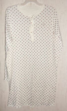 New WOMENS LAUREN RALPH LAUREN IVORY W/ FLORAL PRINT KNIT NIGHTGOWN  SIZE S