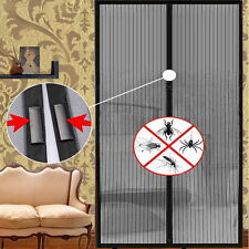 NEW Magic Curtain Door Mesh Magnetic Fastening Hands Free Insect Screen Net LO