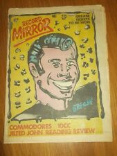 RECORD MIRROR SEPTEMBER 2 1978 GREASE 10CC COMMODORES JILTED JOHN BLONDIE