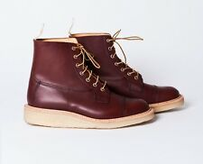 Junya Watanabe Man x Trickers Super boot burgundy Toe Cap Brogue Boots US 10