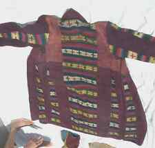 Women's CoatTibetan Chuba - Handmade - Multi-Color - S - Wool Blend - Unique