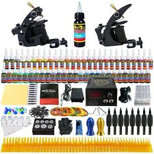 Solong Tattoo Kit 2 Pro Machine Guns 54 Inks Power Supply Needle Grips TK251