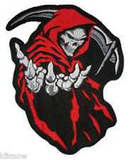 "GRIM REAPER (RED) PATCH 16CM x 13.5CM (6 1/4"" x 5"") Sew on/Iron on"