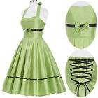 Sexy Vintage 50s Womens Retro Petticoat Pinup Housewife Swing Party Prom Dress
