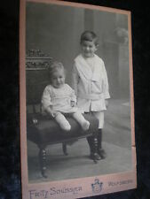 Cdv photograph children by Schussler at Wolfsberg Germany c1900s Ref 506(5)