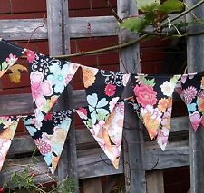 Oriental floral bunting -  bunting, flags or banner for child's bedroom, garden
