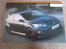 FORD FOCUS RS500 FACTORY LIMITED EDITION BROCHURE POSTER PRINT PROSPEKT