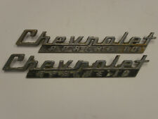 Set 1960-61 Chevrolet Apache Truck Emblems Badge Script Trim Chrome Metal
