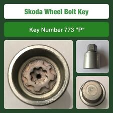 "Genuine Skoda Locking Wheel Bolt / Nut Key 773 ""P"""