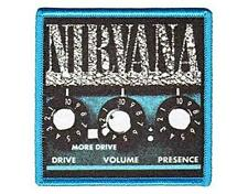 OFFICIAL LICENSED - NIRVANA - AMP SEW/IRON ON PATCH METAL GRUNGE COBAIN