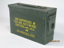 SMALL NATO AMMO CARTRIDGE BOX 200 7.62 MM 11 X 4 X 7