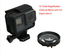 52MM 10 Times Magnification Close-up Macro Lens+adapter for Gopro Hero5