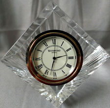 Waterford Crystal Meridian Clock Glass Cube