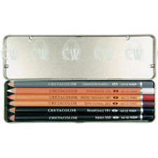 Cretacolor Artists Drawing Pencils PRIMO Pocket Tin Set. Graphite,Pastel & Chalk