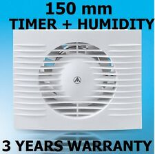 150mm Bathroom, Kitchen, Toilet Wet Room Extractor Fan + TIMER +  HUMIDITY