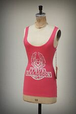 NWT True Religion Tank Tunic American Bald Eagle Shield Bling  Pink Extra Small