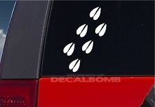 set of 6 DEER TRACK decals / stickers - hunt bow rifle