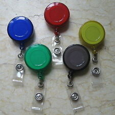5 X Retractable Reel ID Card Badge Holder Yo Yo clip A