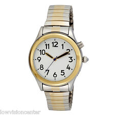 Ladies Two Tone Talking Watch White Face Choice of Voice Male & Female Easy 2 C