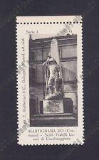 CREMONA MARTIGNANA DI PO 01 MONUMENTO ai CADUTI Erinnofilo Chiudilettera 1921-25