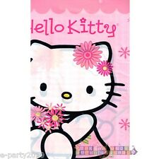 HELLO KITTY Pink Plaid PLASTIC TABLE COVER ~ Birthday Party Supplies Decorations